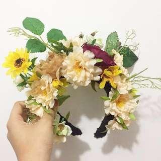 Handmade floral headpiece