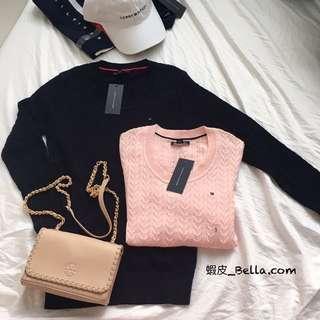 🚚 美國代購🇺🇸 Tommy Hilfiger logo 女生 毛衣 長袖毛衣 長袖針織毛衣