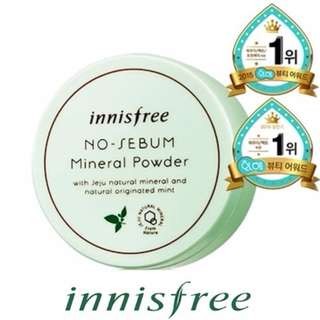 Innisfree No sebum mineral powder ★ Loose powder ★ Oily Skin Powder base ★ Sebum ★ Acne Pimple Care