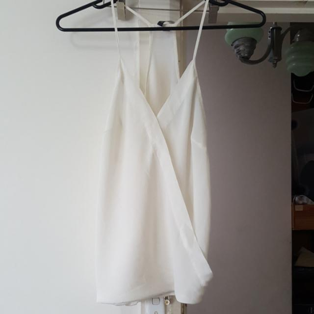 100% Silk Forever New White top