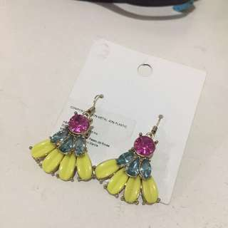 Gem Dangling Earrings