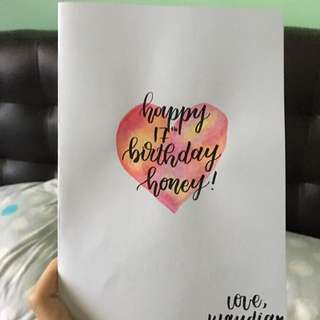 Calligraphy Cards !!