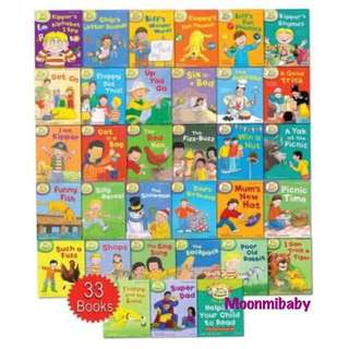 (預訂) 英國入口一Oxford reading trees  READ WITH BIFF, CHIP AND KIPPER LEVELS 1-3 COLLECTION - 33 BOOKS
