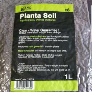 Plants soil aquatic plants shrimps and fishes Clear water guarantee . Smaller pack,  1 ℓ, very good for small tank or part of tank... Good for new starter.
