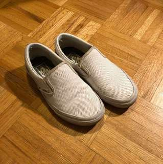 Perferated leather white Vans