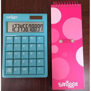 SMIGGLE  notebook and calculator