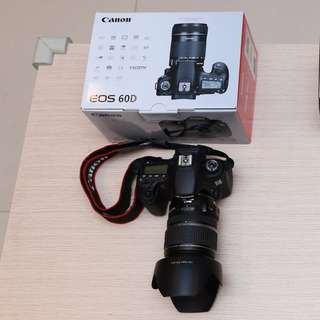 Canon 60D DSLR camera with EF-S 17-55mm lens, B+W filter, lens hood