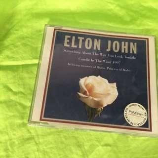 正版二手CD, 有些花,Elton Jhon, 當年紀念戴妃出。