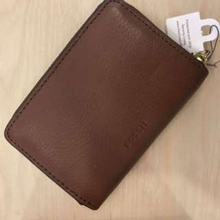 FOSSIL burgundy coin pouch