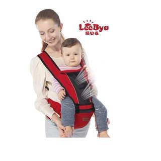 RED 0-36 MONTHS NEWBORN INFANT BABY CARRIER + HIP SEAT BREATHABLE ERGONOMIC WR