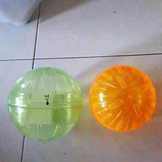 Assorted  hamster accessories house  and ball