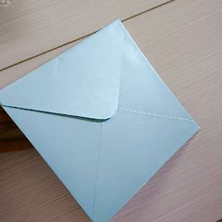 包平郵珍珠色淺藍色tiffany blue 正方形信封75個