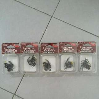 Treble hooks size 1. 5 box $10