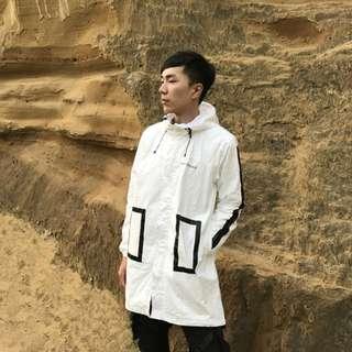 🚚 日本設計師品牌resquad m51長板風衣外套
