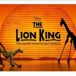 The Lion King Musical 3-21-2018 (Wed) Ticket