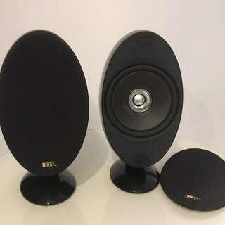 KEF Speakers 喇叭一對 (黑色)