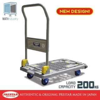NEW DESIGN 200kg Folding Handle Trolley Plastic Base Hand truck PRESTAR (Made in Japan)