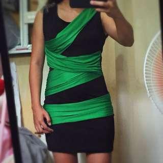 Bodycon green dress