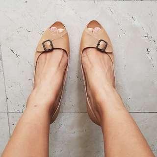 Costume National Beige/Tan Wedge Heels