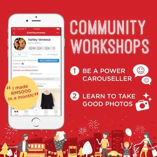 Carousell LIVE! in Johor: Workshops