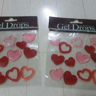 Gel Drops Heart Design