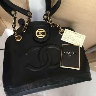 Chanel Vintage 黑色大孖C側孭袋 Classic jambo Diana boy Bag 復古中古