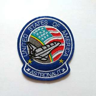 NASA America Astronaut Space Shuttle Iron On Patch