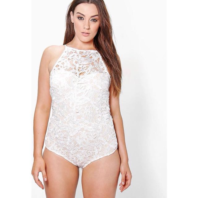 753bca8200c 1212YES (Plus Size) Boohoo Premium Crochet Bodysuit