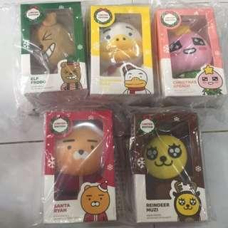 Kakao Friends x Mcdonald's Korea Xmas limited edition plushie