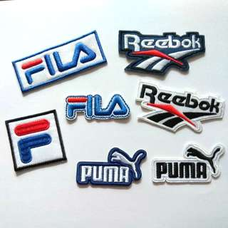 Sports Brand Puma Fila Reebok 80s 90s Iron on Patch