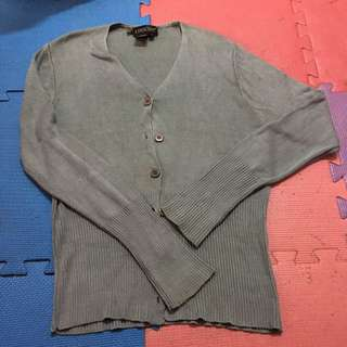 🚚 EPISODE/size:L/下擺手袖縮口細針織外套墨綠色