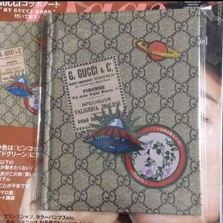 🚚 日本帶回 現貨 立體花紋Gucci筆記本 全新