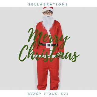 [Sellabrations] Adult Christmas Santa Claus Costume Singapore