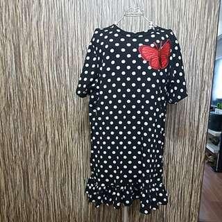 Polka dot dress plus size