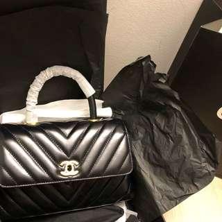Chanel Coco Handle Chevron Mini