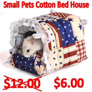 TPE019 Cotton Toy House Bed for small animals  (TPE019)