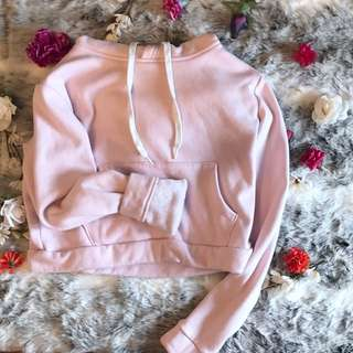 Pink Supersoft Cropped Hoodie