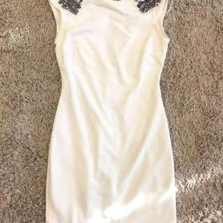 Zara Payet White Dress, size M, jarang dipakai, kondisi good