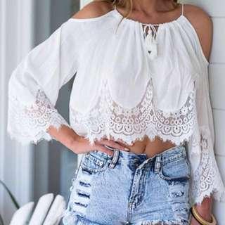 #1212YES Crochet off shoulder