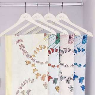 Butterfly duck scarves in nude n yellow
