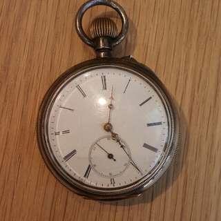 BB&CO 1884年瑞士出廠鈍銀古董陀錶
