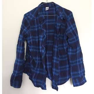 Blue Checkered Flannel