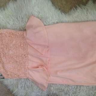 Peplum Pink Dress