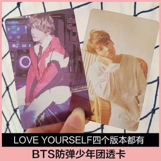 BTS LOVE YOURSELF TRANSPARENT CARD SET
