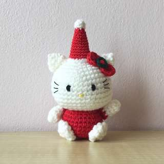 Hello Kitty, Christmas edition (with desired name tag or short message tag)