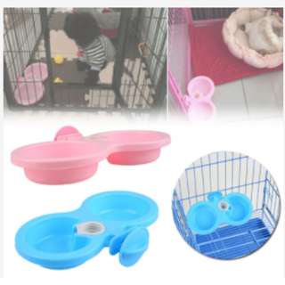 [ PET FOODIES ] Cage Dual Bowl AS LOW AS $10