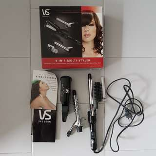 VS SASSON 9 IN 1 MULTI STYLER hair accessories tools styling