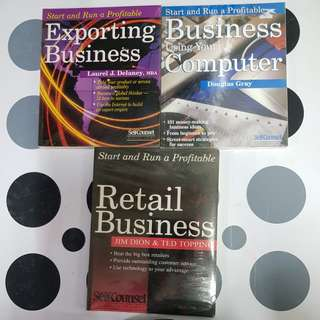 Start and Run a Profitable: Exporting Business , Business Using Your Computer  & Retail Businesd