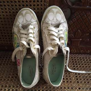 Gold coach sneakers