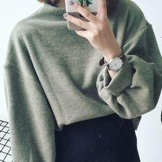 燈籠高領毛衣